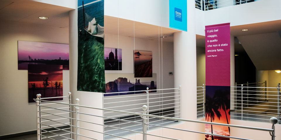 eden viaggi exhibition set up creative agency