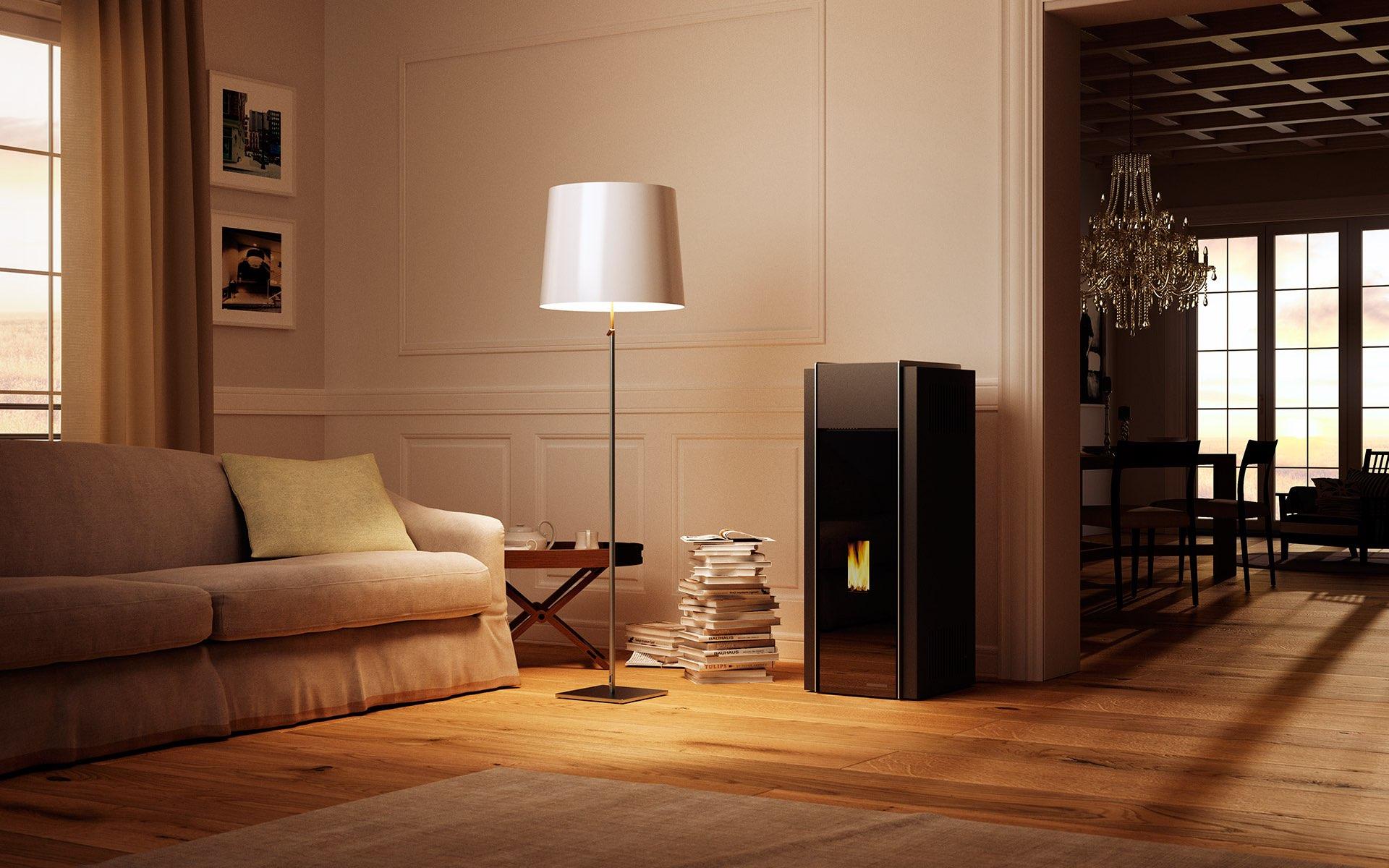 rendering e video 3d per palazzetti acanto comunicazione. Black Bedroom Furniture Sets. Home Design Ideas
