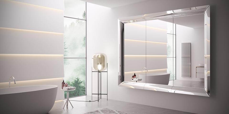 creative agency bathroom rendering